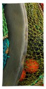 Ucluelet Fishing Nets Beach Towel