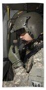 Uh-60 Black Hawk Crew Chief Looking Beach Towel