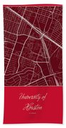 Uh Street Map - University Of Houston In Houston Map Beach Towel