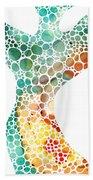 Ultra Modern Art - Colorforms 2 - Sharon Cummings Beach Towel