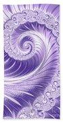 Ultra Violet Luxe Spiral Beach Sheet