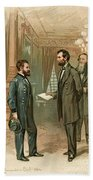 Ulysses S. Grant With Abraham Lincoln Beach Towel