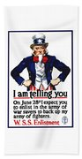 Uncle Sam -- I Am Telling You Beach Towel