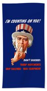 Uncle Sam - I'm Counting On You Beach Towel
