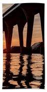 Under Leo Frigo At Dusk Beach Towel