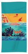 Bright Coral Reef Beach Towel