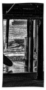 Under The Boardwalk Beach Towel by Tommy Anderson
