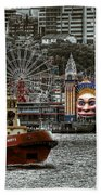 Under The Bridge Beach Towel by Wayne Sherriff