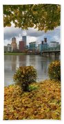 Under The Maple Tree In Portland Oregon During Fall Beach Towel
