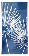 Under The Palms- Art By Linda Woods Beach Towel