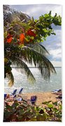 Under The Palms In Puerto Rico Beach Towel