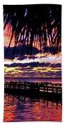Under The Palms Sunrise Beach Towel