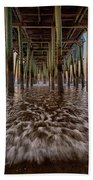 Under The Pier At Old Orchard Beach Beach Towel