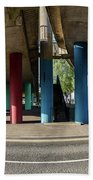 Under The Viaduct A Panoramic Urban View Beach Towel