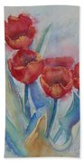 Undersea Tulips Beach Towel