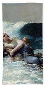 Undertow Beach Towel by Winslow Homer