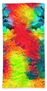 Underwater Rainbow Seahorses Beach Towel