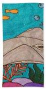 Underwater Stingray Beach Towel