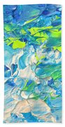 Underwater Wave Beach Towel