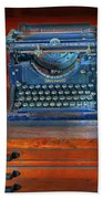 Underwood Typewriter Beach Towel