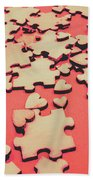 Unfinished Hearts Beach Towel