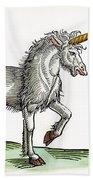Unicorn, 1607 Beach Towel