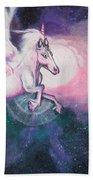 Unicorn And The Universe Beach Towel