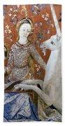 Unicorn Tapestry, 15th C Beach Towel