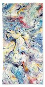 Unicorns And Rainbows  Beach Towel