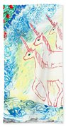 Unicorns Come Home Beach Towel