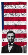 Union Heroes And The American Flag Beach Towel