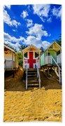 Union Jack Beach Hut 2 Beach Towel