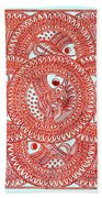 Union Light Red Beach Towel
