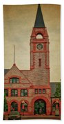 Union Pacific Railroad Depot Cheyenne Wyoming 01 Textured Beach Towel