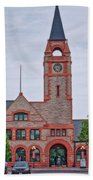 Union Pacific Railroad Depot Cheyenne Wyoming 01 Beach Towel