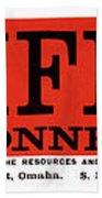Union Pacific Railroad Signage 1883 Beach Towel