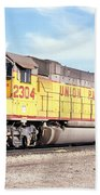Union Pacific Up - Railimages@aol.com Beach Towel