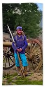 Union Soldier With Cannon Beach Towel