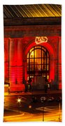 Union Station In Chiefs Red Beach Towel