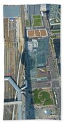 Union Station Train Yard Toronto From The Cn Tower Beach Towel