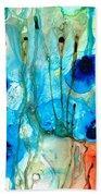 Unique Art - A Touch Of Red - Sharon Cummings Beach Sheet