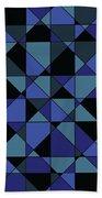 Unique Bold Hip Blue Cyan Grey Black Geometric Pattern Beach Towel