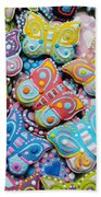 Unique Colorful Honey Cookies , Butterfly Shaped  Beach Towel