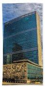 United Nations Headquarters Beach Towel