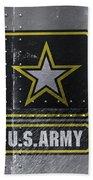 United States Army Logo On Steel Beach Towel
