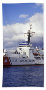 United States Coast Guard Cutter Rush Beach Towel by Michael Wood
