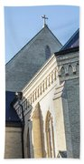 University Of Notre Dame Basilica  Beach Towel