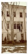 University Of South Carolina President's Residence In Sepia Tones Beach Towel