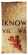 Unknown Civil War Beach Sheet