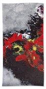 Unread Poem Black And Red Paintings Beach Towel